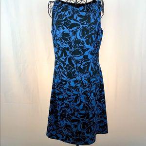 Ann Taylor silk floral sleeveless dress 8